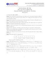 Ngân hàng đề thi xác suất thống kê