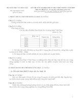 KỲ THI TỐT NGHIỆP TRUNG HỌC PHỔ THÔNG NĂM 2007 Môn thi: ĐỊA LÍ - Trung học phổ thông phân ban