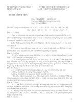 ĐỀ THI CHỌN HỌC SINH GIỎI LỚP 12 NĂM HỌC 2011-2012 MÔN HÓA HỌC – SỞ GIÁO DỤC VÀ ĐÀO TẠO LONG AN