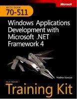 70-511 microsoft windows applications development with microsoft .net framework 4