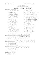 các dạng toán thi vào 10(đầy đủ)