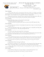ĐỀ THI CHỌN HỌC SINH GIỎI KHU VỰC MỞ RỘNG NĂM HỌC 2011- 2012 MÔN SINH HỌC LỚP 11