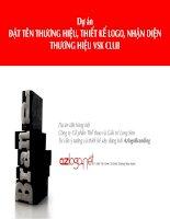 Dự án đặt tên thương hiệu vsk club (azlogobranding)