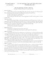 ĐỀ THI CHỌN HỌC SINH GIỎI TỈNH LỚP 12 NĂM HỌC 2012 – 2013 MÔN  SINH HỌC LỚP 12 THPT - SỞ GD&ĐT NGHỆ AN