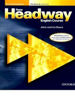 New headaway pre intermediat student's workbook with key