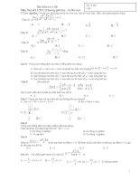 ĐÊ KT 1 tiet chương 4 ĐS 11 (NC)