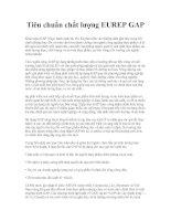 Tiêu chuẩn chất lượng EUREP GAP