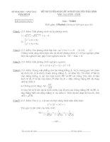 Đề thi vào lớp 10 ( Có đáp án và parem điểm)