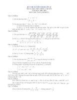 Đề và ĐA thi vào lớp 10 (Đề số 3)