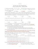 ĐỀ THI THỬ TRẮC NGHIỆM SỐ 1 Vật lý và Tuổi trẻ Số 54 – Tháng 02/2008