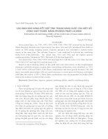 Xác định khả năng kết hợp tính trạng năng suất của một số dòng ngô thuần bằng ph-ơng pháp lai đỉnh
