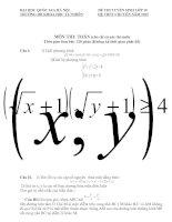 ĐỀ THI TUYỂN SINH LỚP 10 TRƯỜNG ĐH KHOA HỌC TỰ NHIÊN HỆ THPT CHUYÊN NĂM 2012 MÔN TOÁN