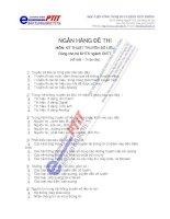 Ngân hàng đề thi môn học kỹ thuật truyền số liệu