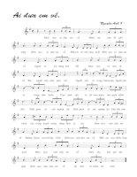 Bài hát ai đưa em về - Nguyễn Ánh 9 (lời bài hát có nốt)