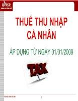 Bài giảng thuế Thu nhập cá nhân từ tiền lương, tiền công