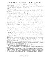 Ngu van 9: Tai lieu on thi THPT mon Ngu van