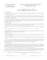 ĐỀ THI CHỌN HỌC SINH GIỎI TỈNH LỚP 12 NĂM HỌC 2012 – 2013 MÔN HÓA HỌC LỚP 12 THPT - SỞ GD&ĐT NGHỆ AN