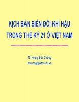 KỊCH bản BIẾN đổi KHÍ hậu TRONG THẾ kỷ 21 ở VIỆT NAM