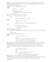 Bài tập điện hóa học