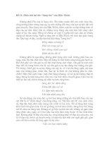 """Phân tích bài thơ """"Sang thu"""" của Hữu Thỉnh."""