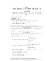 Chủ đề: Tập xác định và Tập giá trị của hàm số