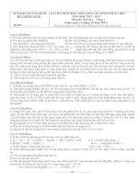ĐỀ THI CHỌN HỌC SINH GIỎI CẤP TỈNH LỚP 12 THPT NĂM HỌC 2012-2013 MÔN HÓA HỌC - SỞ GIÁO DỤC VÀ ĐÀO TẠO QUẢNG BÌNH
