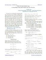Phân tích hệ số pư & ứng dụng trong giải nhanh bài toán hóa học