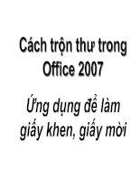 Cách trộn thư trong Office 2007