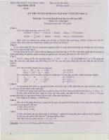 Đề thi cao học   đại học huế   cơ sở lý thuyết hóa học và cấu tạo chất   năm 2012