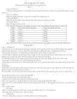25 đề thi thử TN THPT 2009 + đáp án