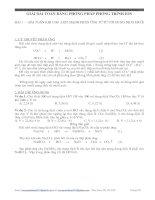 Giải bài toán bằng phương pháp phương trình ion