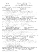 Đề 003  (Đề thi có 05 trang)ĐỀ THI THỬ VÀO ĐẠI HỌC, CAO ĐẲNG Môn thi: HÓA HỌC