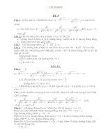 Bộ đề & ĐA ôn thi vào lớp 10 THPT môn Toán Đề số 9