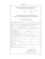 TỜ KHAI ĐĂNG KÝ THẾ CHẤP TÀU BIỂN APPLICATION FOR REGISTRATION OF SHIP MORTGAGE