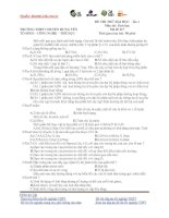 ĐỀ THI THỬ ĐẠI HỌC – lần 1 Môn thi: Sinh học Mã đề 117