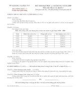 Đề thi ĐH 003 - Tư liệu địa lí phổ thông