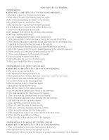 Bài tập về câu bị động (có đáp án)