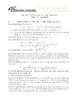 Giải đề thi đại học khối B, D môn toán 2013