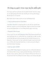 10 công cụ quét virus trực tuyến miễn phí