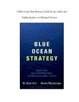 Chiến lược đại dương xanh từ góc nhìn của philip kotler và michael porter