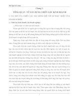 MỘT SỐ GIẢI PHÁP NHẰM XÂY DỰNG VÀ THỰC HIỆN  CHIẾN LƯỢC THỊ TRƯỜNG CỦA TỔNG CÔNG TY