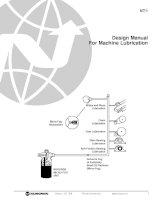 design manual for machine lubrication