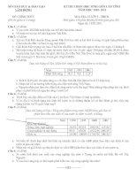 ĐỀ THI CHỌN HỌC SINH GIỎI CẤP TỈNH LÂM ĐỒNG  NĂM HỌC 2010- 2011 Môn ĐỊA LÍ LỚP 9 - THCS