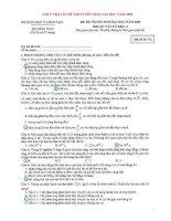ĐÁP ÁN ĐỀ THI ĐẠI HỌC MÔN VẬT LÍ NĂM 2009 (Mã đề 742)