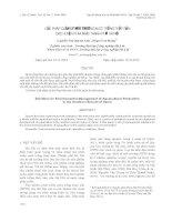 GIẢI PHÁP QUẢN LÝ MÔI TRƯỜNG NUÔI TRỒNG THỦY SẢN CÁC HUYỆN PHÍA NAM THÀNH PHỐ HÀ NỘI