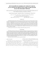MỘT SỐ ĐẶC ĐIỂM CỦA SALMONELLA SPP. PHÂN LẬP TỪ LỢN CON SAU CAI SỮA MẮC HỘI CHỨNG TIÊU CHẢY TẠI MỘT SỐ TRANG TRẠI NUÔI THEO QUY MÔ CÔNG NGHIỆP Ở MIỀN BẮC