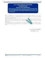Tài liệu bài giảng các vấn đề về khoảng cách p3