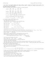 Xác định công thức phân tử HCHC