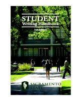 student writing handbook 1st edition