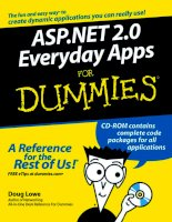 ASP NET 2 0 everyday apps for dummies